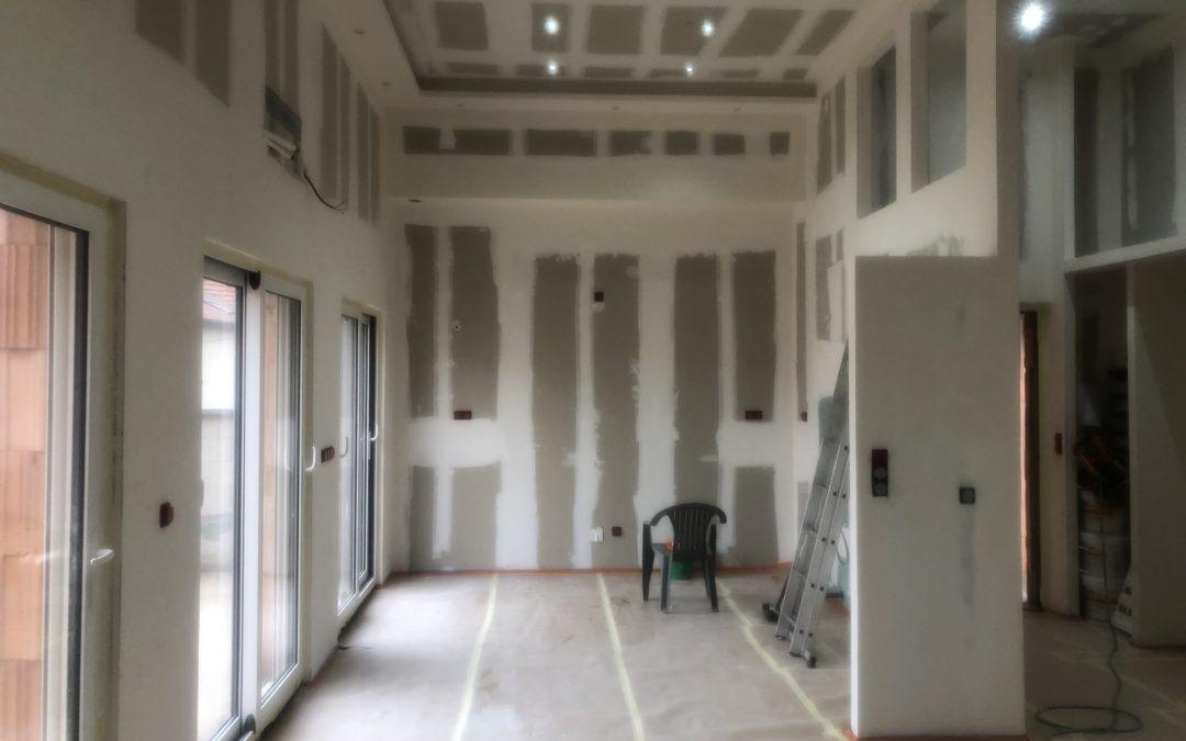 Réalisation d'isolation et plafond d'une maison BBC à Lorry-Mardigny 57